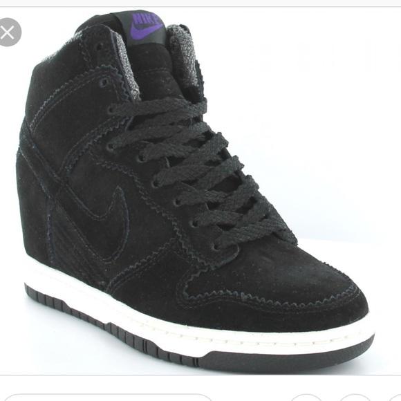 buy online 1c5a7 2c9dc Nike Dunk Sky Hi Black suede wedge sneakers. M5b6b70ce8158b590c95d5868